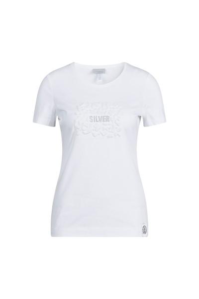 Shirt mit 3-D-Motiv und Strassdetail