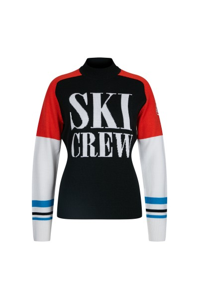 Cuddly ski pullover in retro look