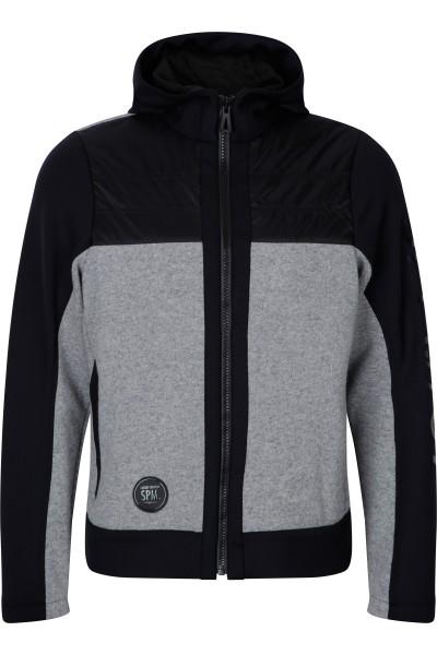 Fleece jacket in hoody look
