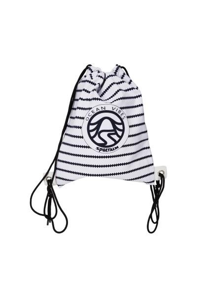 Modischer Rucksack im Streifendesign
