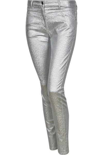 Stretchhose im Metallic-Look