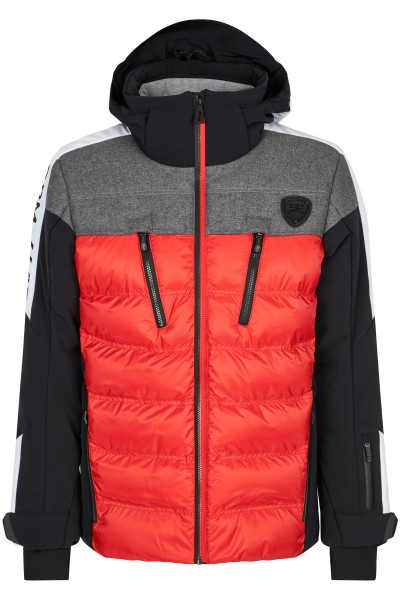 Functional down jacket with hood