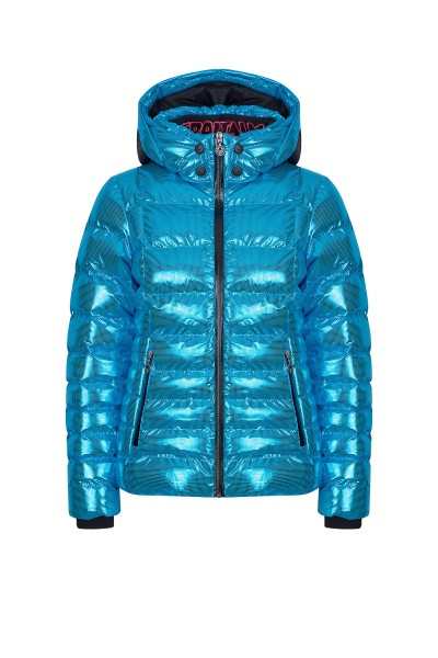 Skijacke im Nylon Metallic Look
