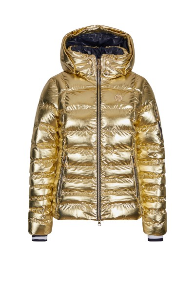 Extravagant nylon metallic jacket