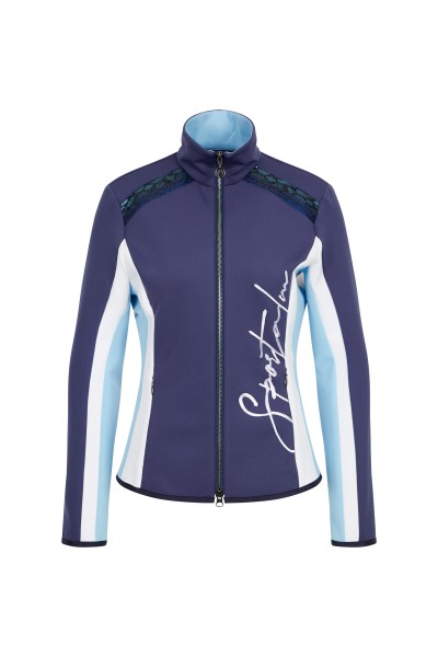 Sweat jacket made of stretchy functional jersey