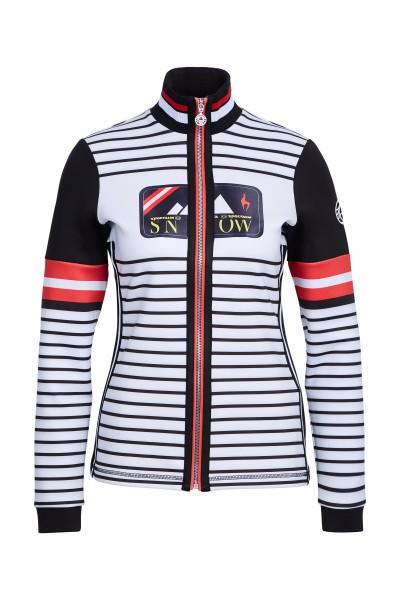 Trendy functional jacket in stripe design