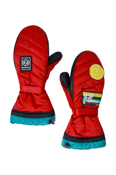 Warm quilted gloves