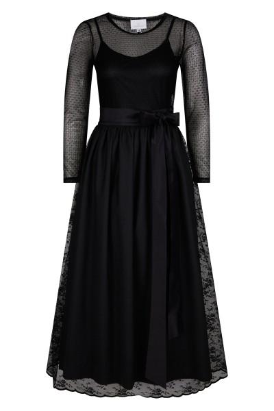 Long, elegant lace dress with petticoat