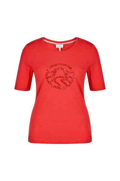 T-shirt with a fashionable glitter detail