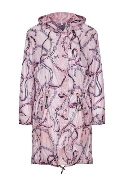 Nylon coat in allover print