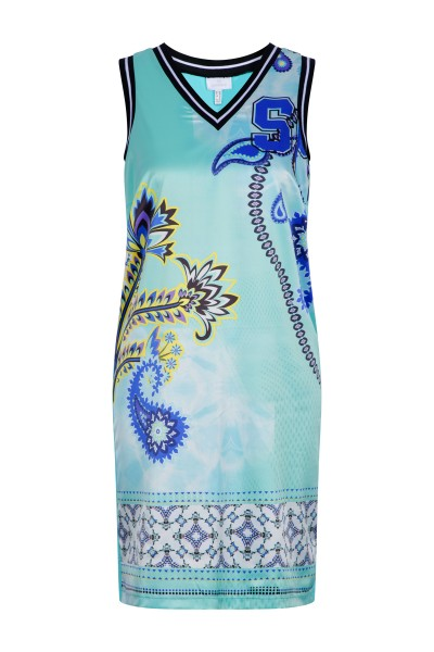 Jersey dress in a patterned paisley print