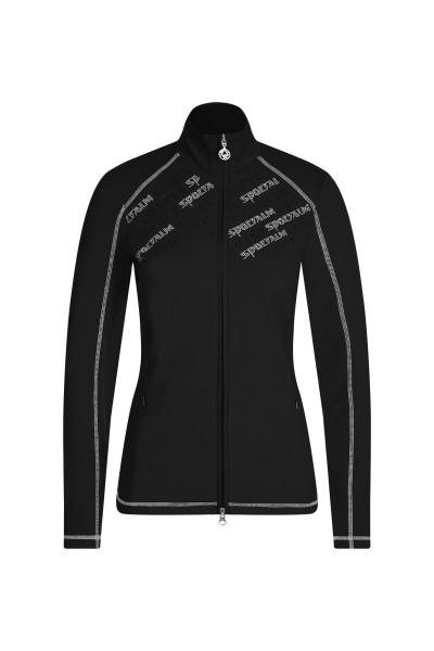 Jersey-Jacke mit Schriftapplikation