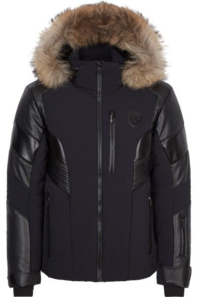 Ski jacket with hood and fur