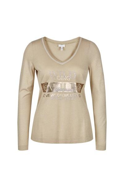 Langarm-Shirt aus Lurex Jersey