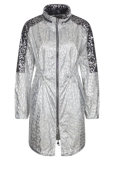 Nylon coat in allover-print