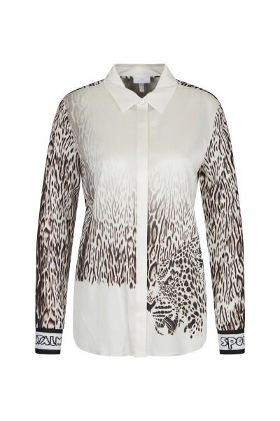 Moderne Bluse im Degradée Druck und Ärmel mit Strickbündchen