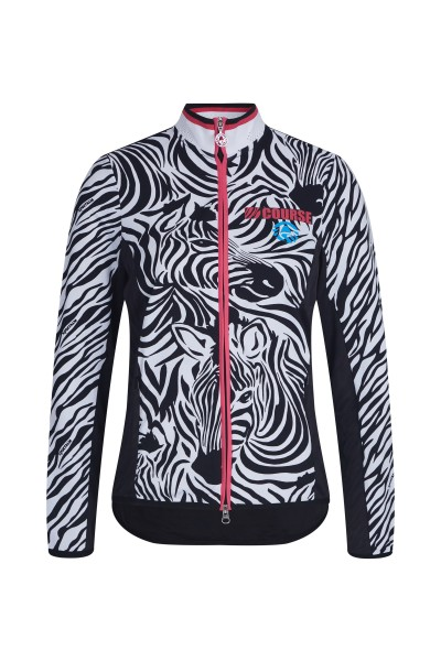 Sweatjacke im All-Over Zebra-Druck