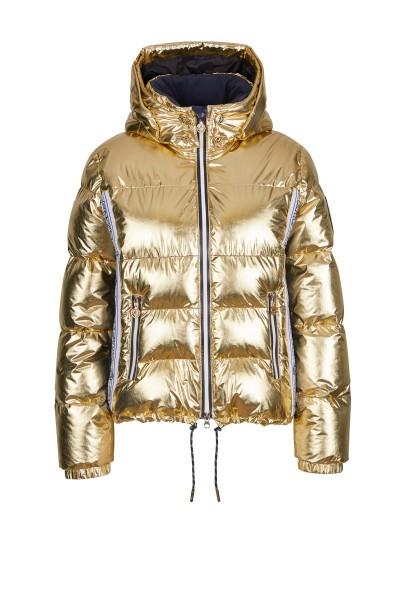 Jacke aus Metallic Nylon