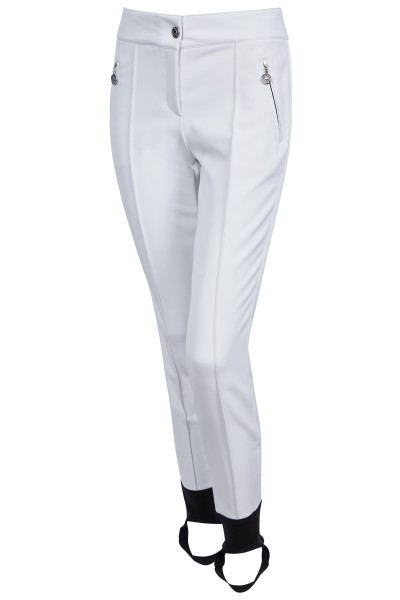 Figure-hugging wedge pants with elastic in softshell quality