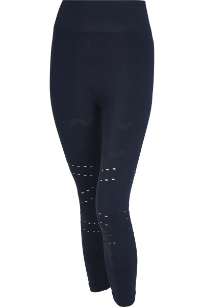 Leggings with lace pattern