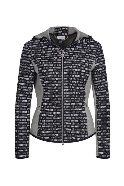 Sportliche Jacke mit Schriftzug-Druck