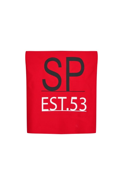 Sporty tube scarf made of functional jersey with foil motif