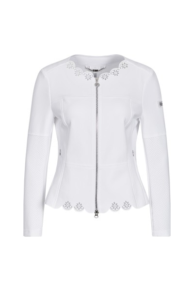 Elegant jacket with a floral laser motif