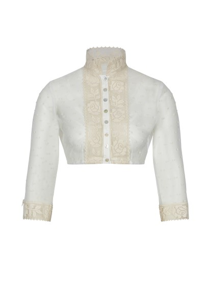 Blouse with border detail on collar