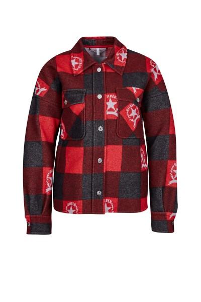 Stylish wool shirt with Sportalm check
