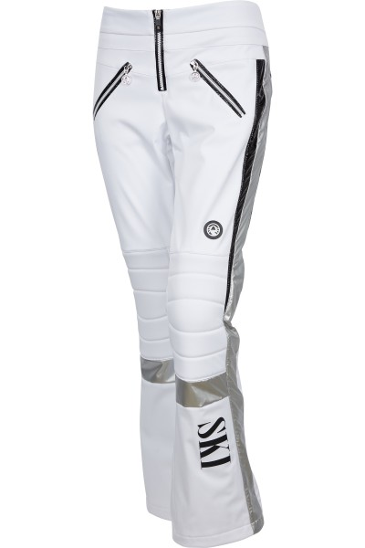Ski pants with metallic detail