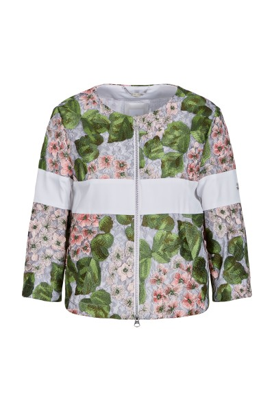 Lace jacket in a floral design