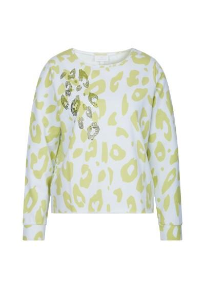 Sweater im All Over Leo Fleckenprint