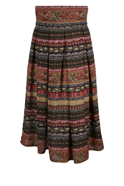Waisted cotton skirt with bodice