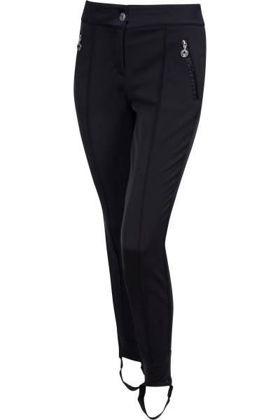 Sporty wedge pants with bar