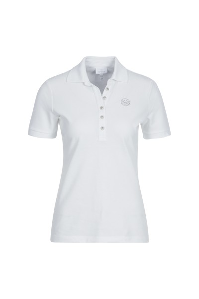 Figure-hugging, classic polo jersey shirt