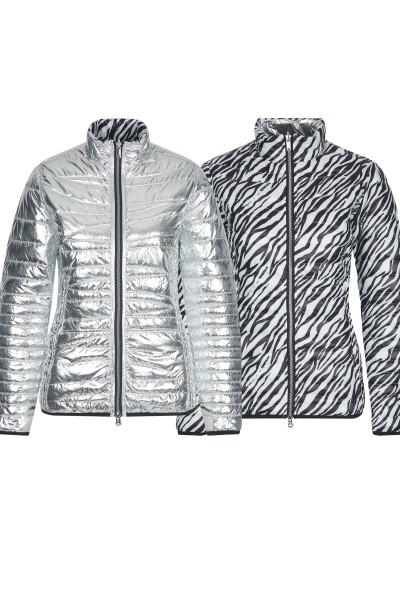 Padded jacket with reversible option