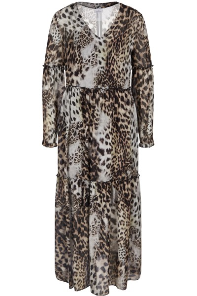 Dress with elegant leo print