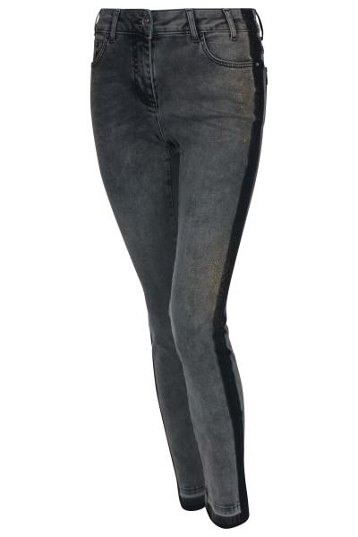 Slim Fit Jeans mit seitlichen Galonstreifen
