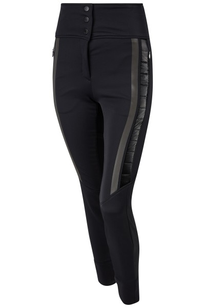 Figure-hugging softshell pants with powerstretch cuffs and high waistband