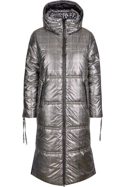 Padded coat in a checked print