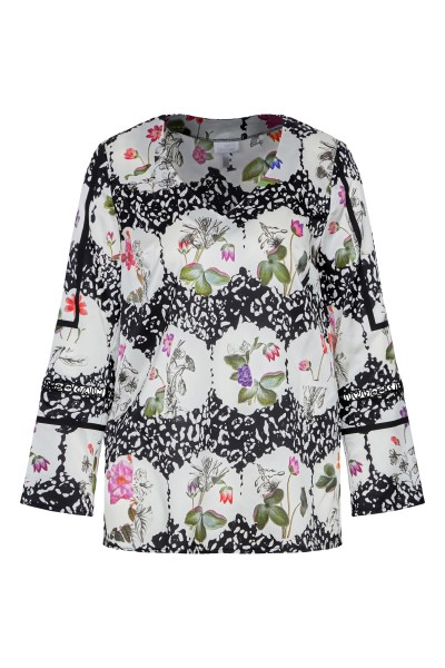 Bluse mit Allover-Blumenprint