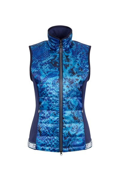 Steppgilet im Allover-Schlangenprint