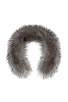 Silver gray synthetic fur trim