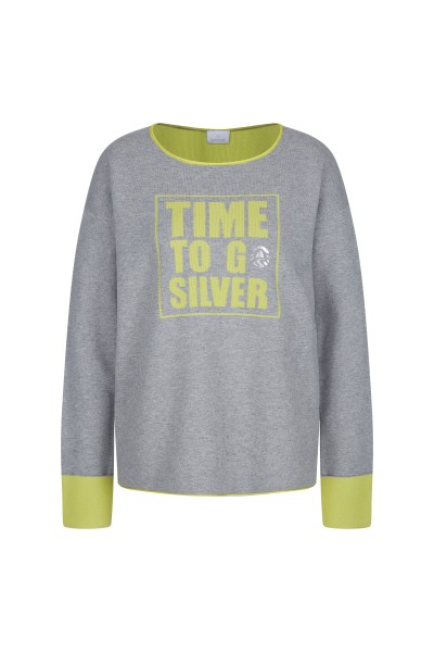 Pullover in 2-colour effect