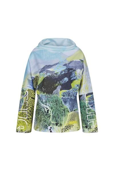 Sweatshirt in all-over landscape print