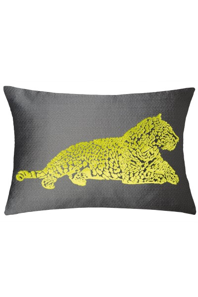 Decorative cushion cover with leopard print