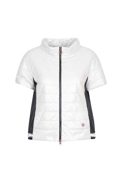 Chic, padded short-sleeved waistcoat