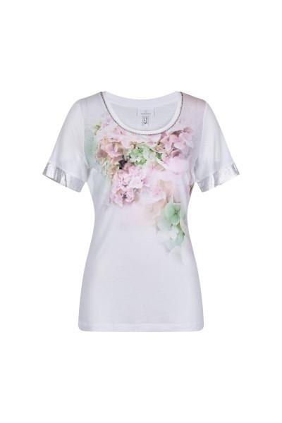 Blumig bedrucktes Shirt in Viskose