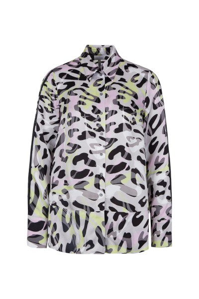Shirt blouse in all-over leo print