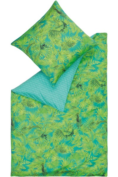 Bed linen with palm tree print 155x220